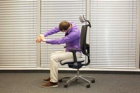 Richtiges Sitzen am Schreibtisch
