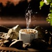 Wasserfontäne Saunatroikka