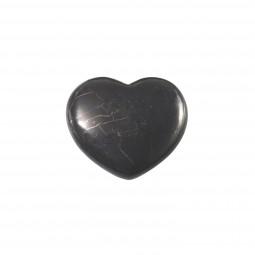 Schungit Herz, groß (4,5 cm)