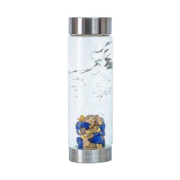"""VitaJuwel VIA """"Inspiration"""" - Lapis Lazuli / Rutilquarz Wasserflasche"""