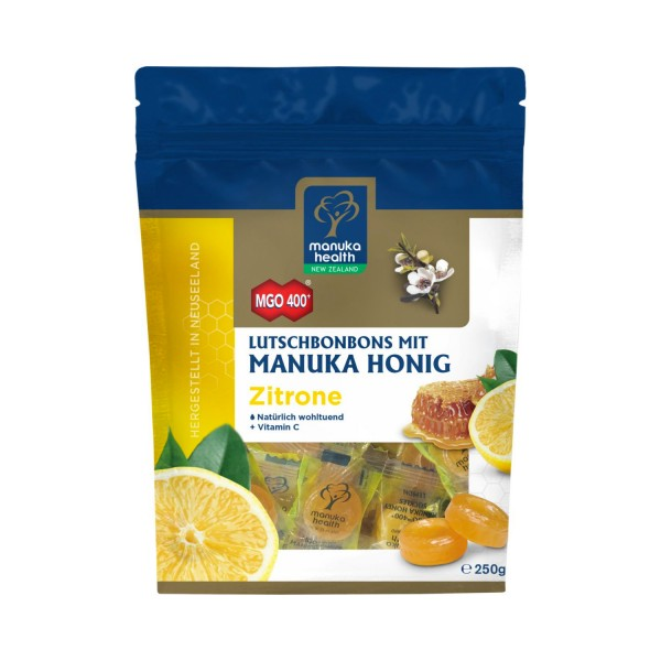 Manuka-Honig MGO™ 400+ Zitrone Lutschbonbons, 250g
