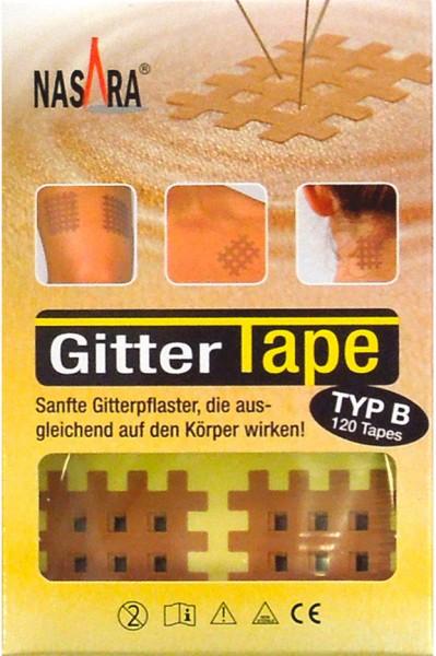 Nasara Gitter Tapes - Gitterpflaster Größe B