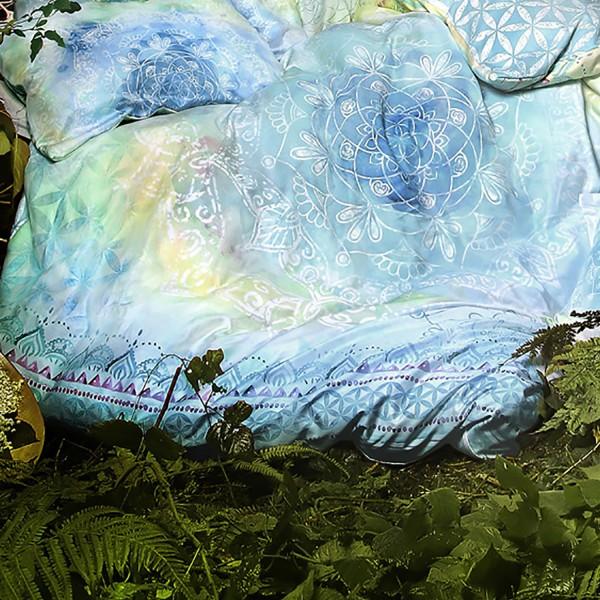 Bettbezug mit Edelsteinen - Blue Dream - 100% Bio-Baumwolle