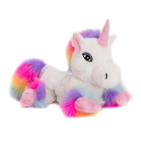 Einhorn Weiß Rainbow mit Klettverschluss