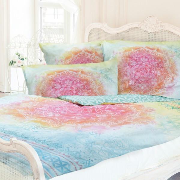 Bettbezug mit Edelsteinen - Rainbow - 100% Bio-Baumwolle Bettwäsche