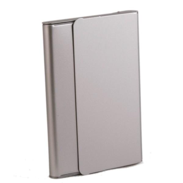 Globuli-Box Aluminium - leer - Taschenapotheke zur Aufbewahrung von 10 Glasröhrchen