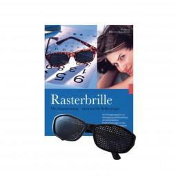 Rasterbrille und Buch, Set
