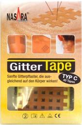Nasara Gitter Tapes - Gitterpflaster Größe C
